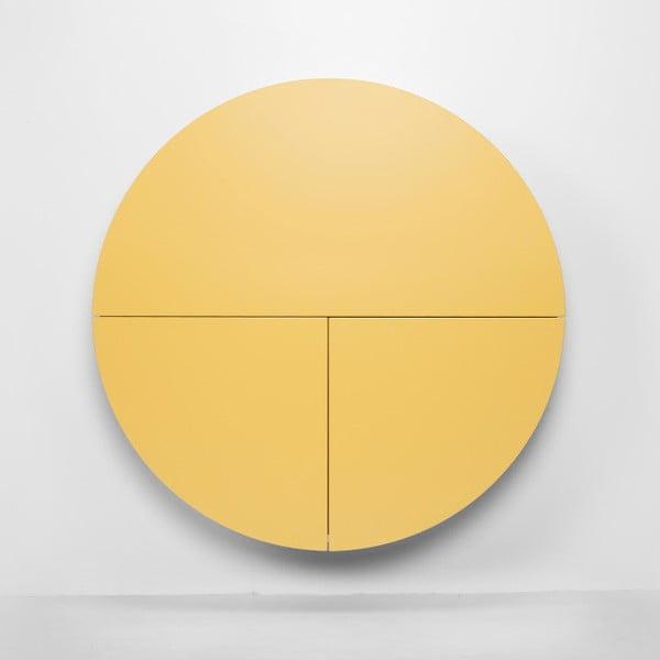 Multifunkčný nástenný stôl Pill EMKO, čierna/žltá