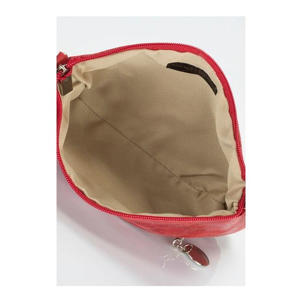 Červená kožená kabelka Lisa Minardi Lola
