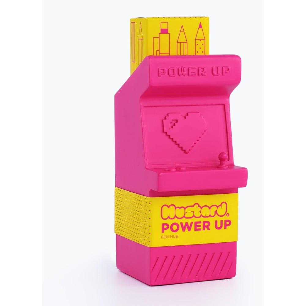 Ružový stojanček na ceruzky Just Mustard Power Up