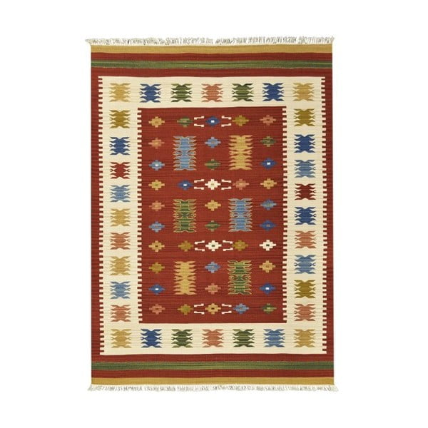 Ručne tkaný koberec Kilim Jasmine, 75x125 cm