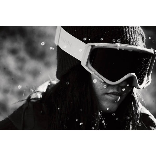 Dámske lyžiarske okuliare Electric RIG5 Gloss White - Bronze, veľ. M