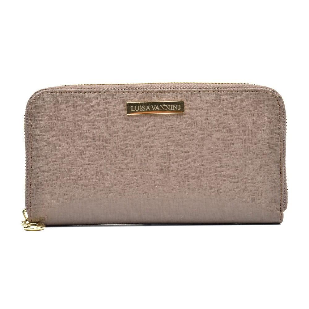 Béžová dámska kožená peňaženka Luisa Vannini Grunto