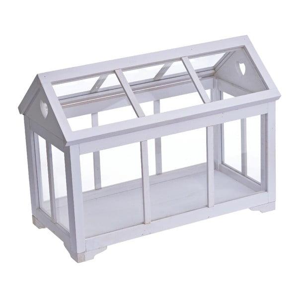 Biely dekoratívny skleník Ewax Chantal