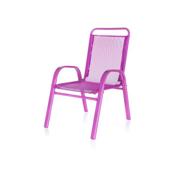 Detská záhradná stolička Kids, ružová