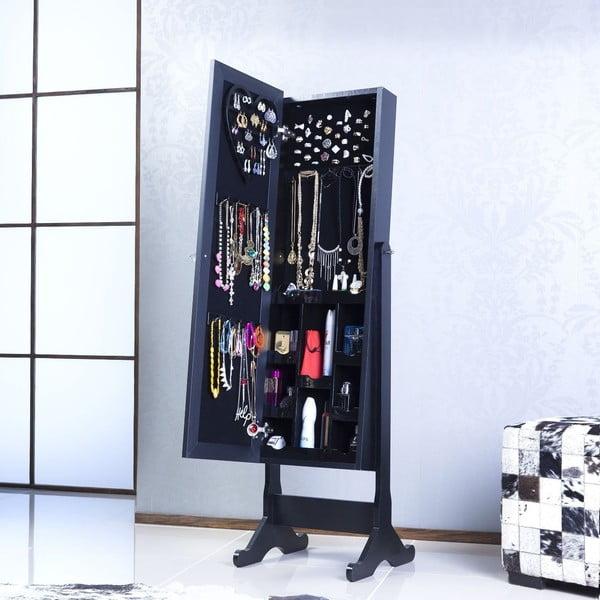 Stojacie zrkadlo so šperkovnicou Gaudi, čierne