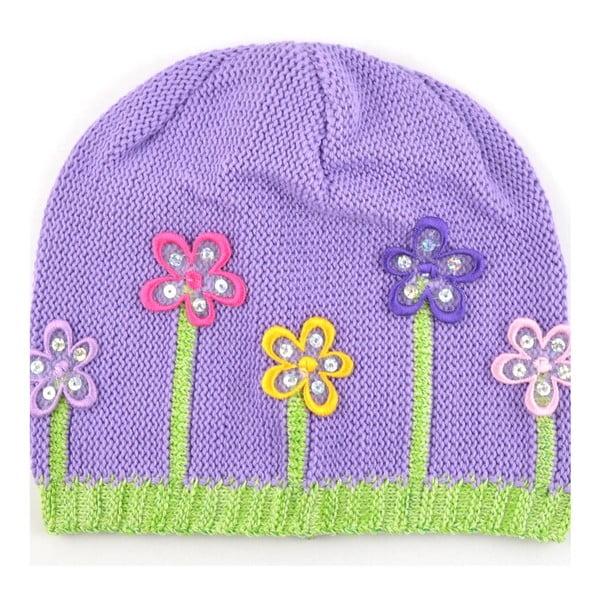 Dievčenská čapica Lacka, tmavofialová
