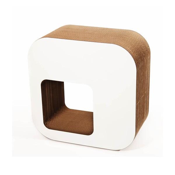Kartónová stolička Kartoons, biela