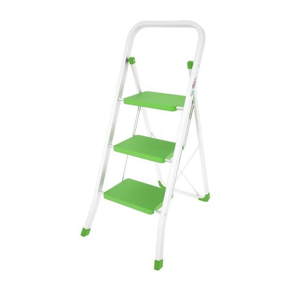 Zelený skladací rebrík Colombo New Scal Stabilo 3