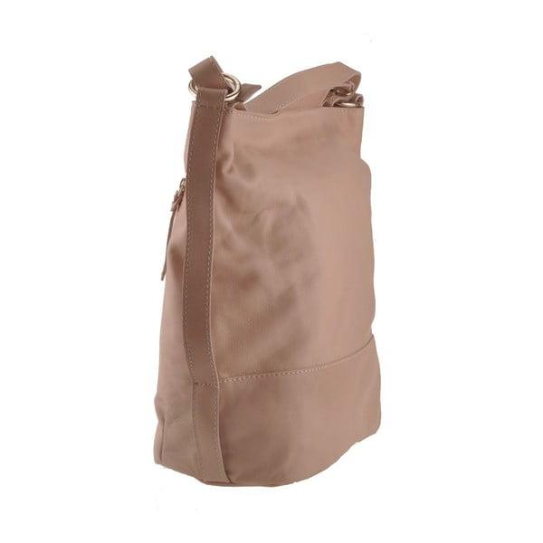 Kožená kabelka Dattero, béžová