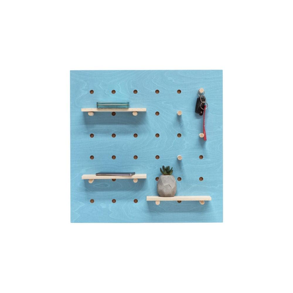 Modrý nástenný organizér Ragaba TRIVENTI, 60 × 60 cm