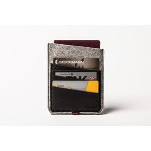 Púzdro na cestovný pas z pravej kože Éstie, svetlo sivé