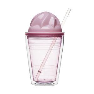 Ružový hrnček na mliečne  kokteily Sagaform