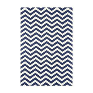 Koberec Zig Zag Blue, 160x230 cm