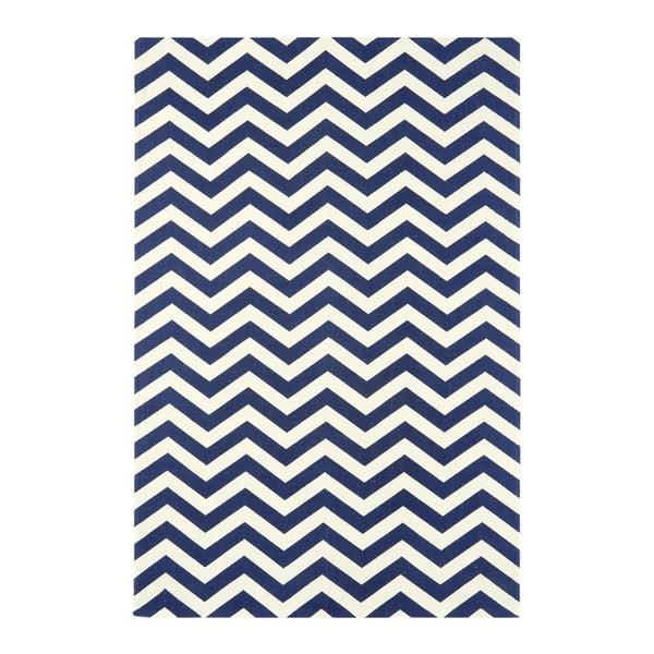 Koberec Zig Zag Blue, 120x170 cm