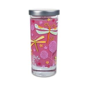 Vonná sviečka Glass Bridgewater Candle, vôňa lesných plodov, jablka a fialiek