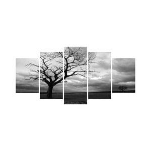 Viacdielny obraz Black&White no. 37, 100x50 cm