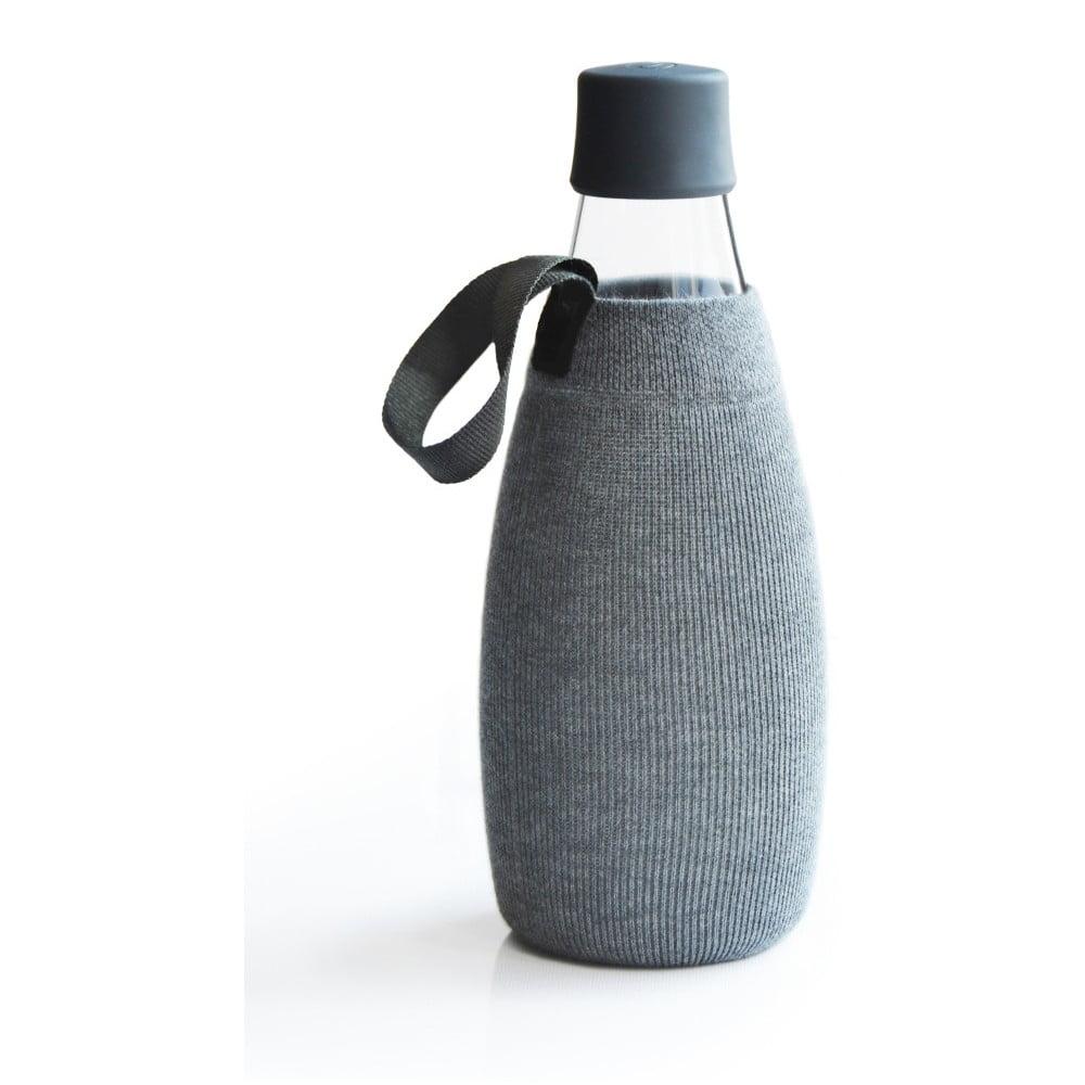 Sivý obal na sklenenú fľašu ReTap s doživotnou zárukou, 800 ml