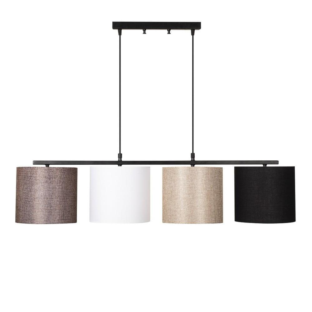 Čierne kovové závesné svietidlo s barevnými tienidlami Opviq lights Jacob