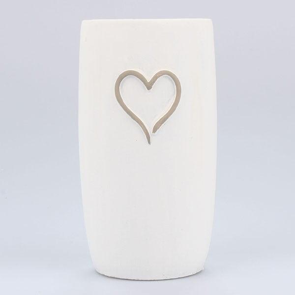 Betonová váza Vintage Heart