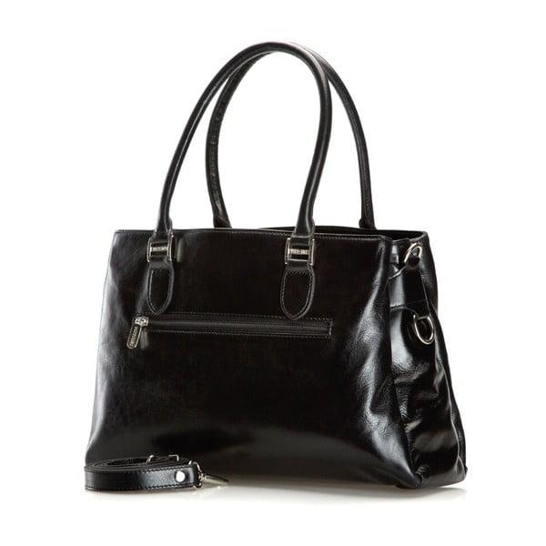 Kožená kabelka Venus Shiny Black