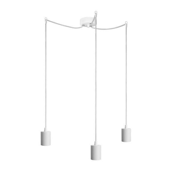 Biele závesné svietidlo s 3 káblami Bulb Attack Cero