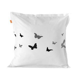 Bavlnená obliečka na vankúš Blanc Butterflies, 80×80 cm