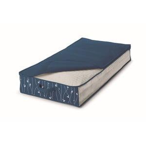 Modrý úložný box pod posteľ Cosatto Leaves, šírka50cm