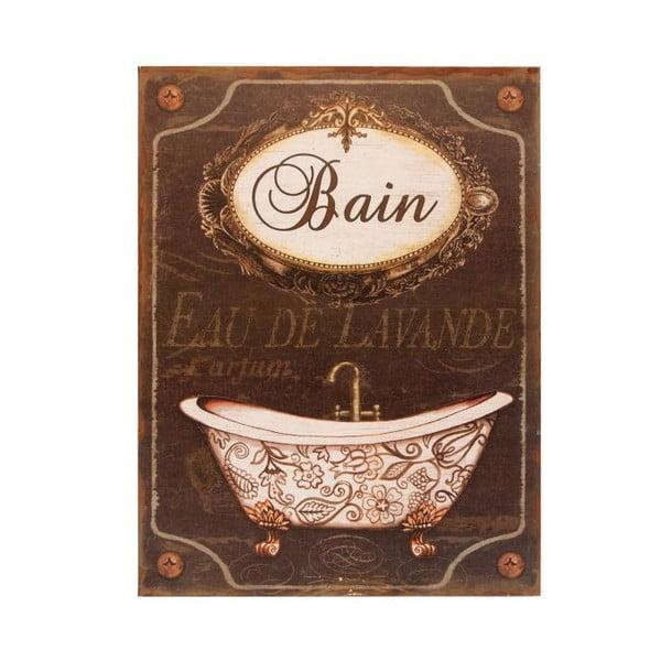 Plechová ceduľa Antic Line Bain