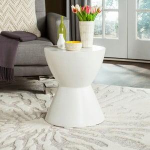 Biely betónový záhradný stolík vhodný do exteriéru Safavieh Baywood