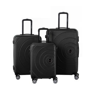 Sada 3 čiernych cestovných kufrov Berenice Circle