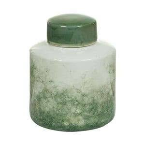 Bielo-zelená kameninová dóza Santiago Pons Havan, výška 22cm