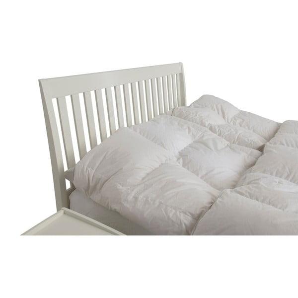 Biela ručne vyrábaná dvojlôžková posteľ z masívneho brezového dreva Kiteen Matinea, 160 × 200 cm