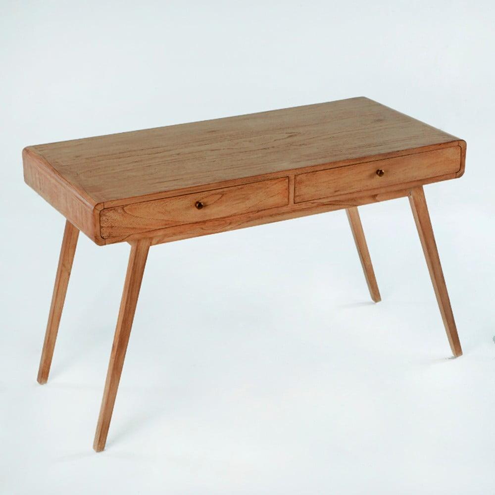 Pracovný stôl z lakovaného dreva borovice Thai Natura Student, 120 × 76 cm