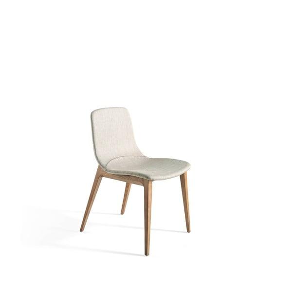Sivá stolička s drevenými nohami Ángel Cerdá Bona