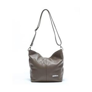 Sivá kožená kabelka Luisa Vannini Nina