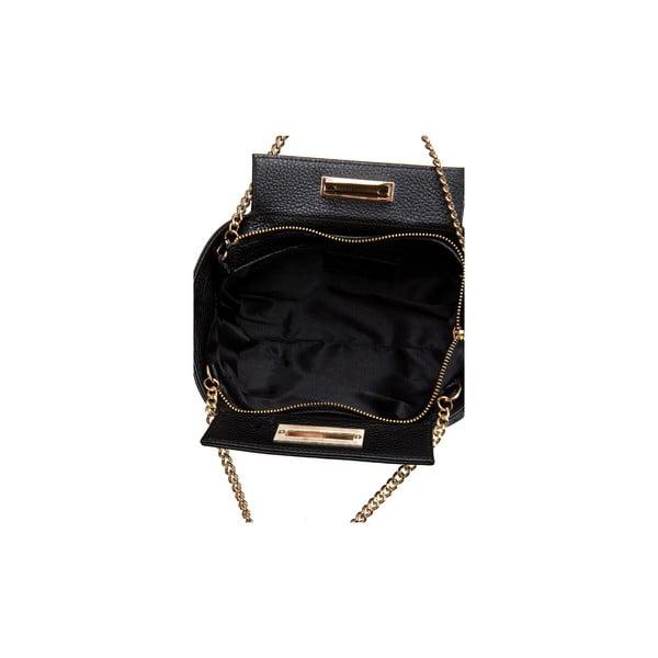 Čierna kožená kabelka Massimo Castelli Terre