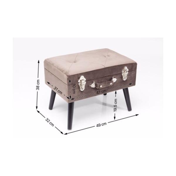 Sivá stolička Kare Design Suitcase