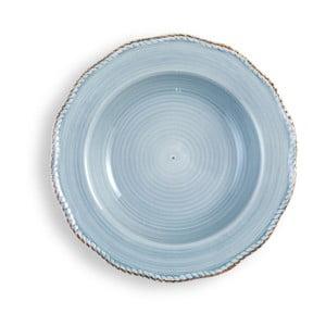 Stredne veľký svetlomodrý tanier Brandani