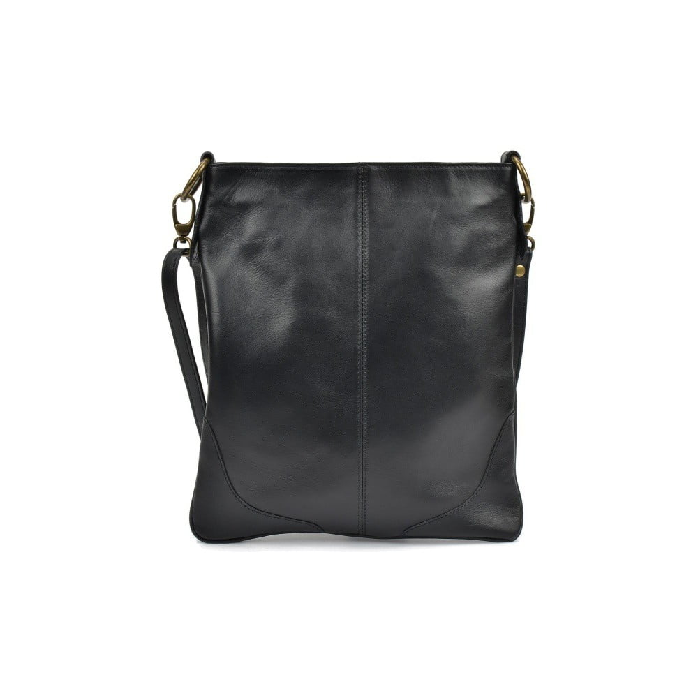Čierna kožená kabelka Mangotti Duro Misma