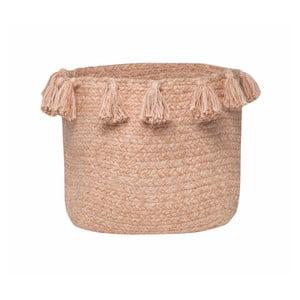 Púdrovoružový bavlnený úložný košík Nattiot, Ø25 cm