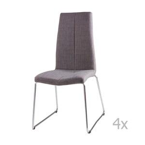Sada 4 svetlosivých jedálenských stoličiek sømcasa Aora