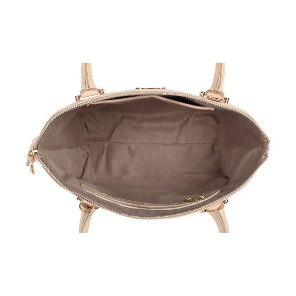 Púdrovoružová kožená kabelka Beverly Hills Polo Club Evelin