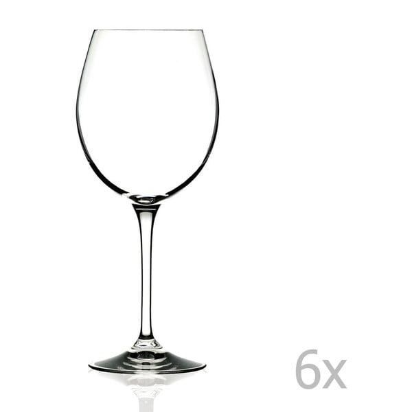 Sada 6 pohárov na víno RCR Cristalleria Italiana Romilda, 650 ml