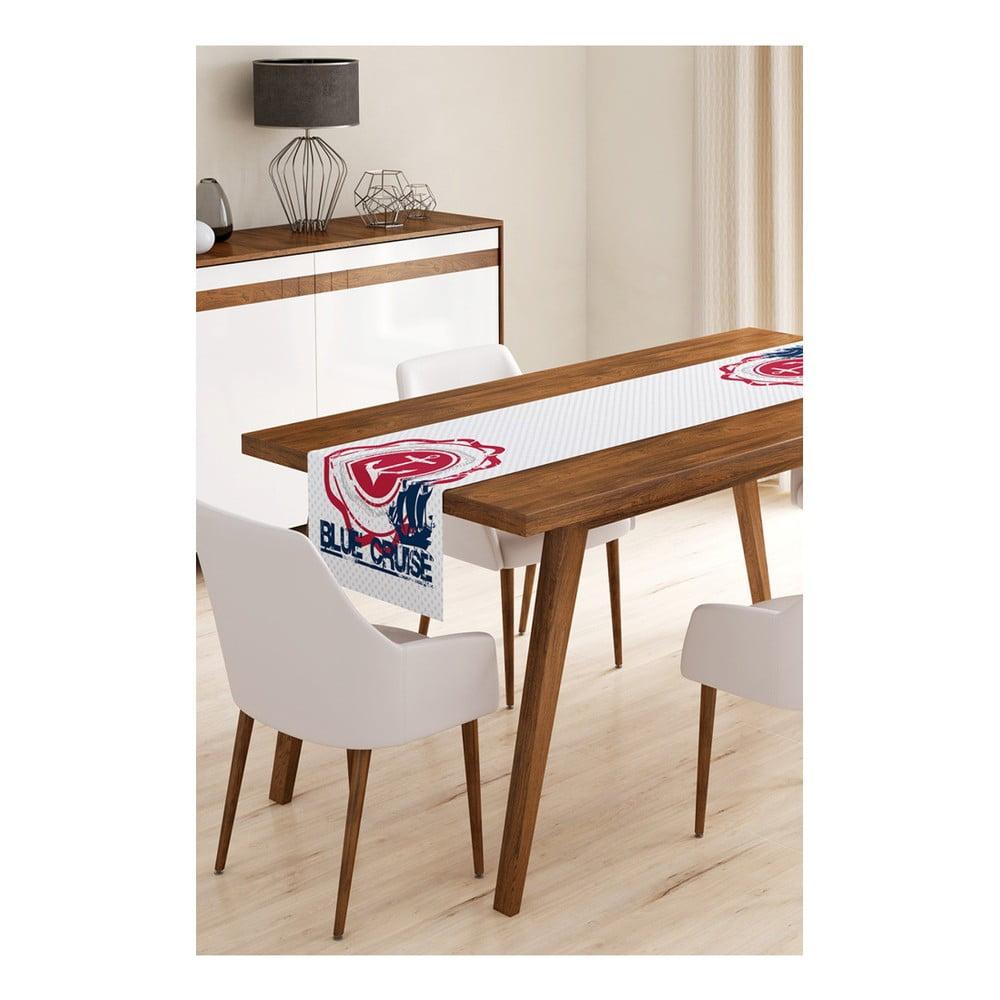 Behúň na stôl z mikrovlákna Minimalist Cushion Covers Blue Cruise, 45 × 145 cm