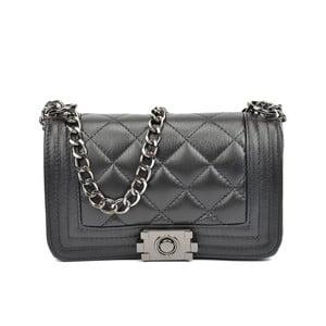 Čierna kožená kabelka Isabella Rhea Analía