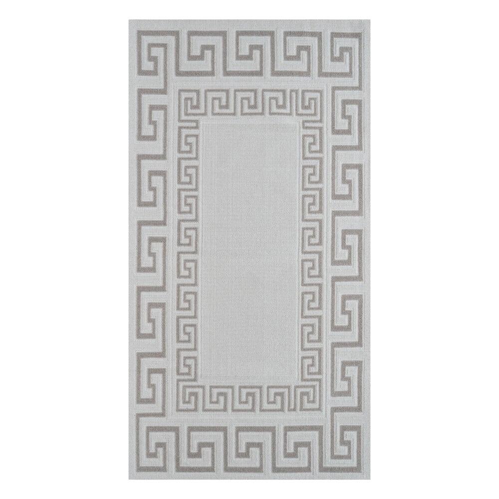 Odolný bavlnený koberec v béžovej farbe Vitaus Versace, 80×150cm