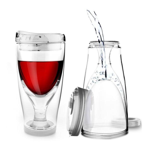 Termoska Ice Vino 2GO, priesvitná