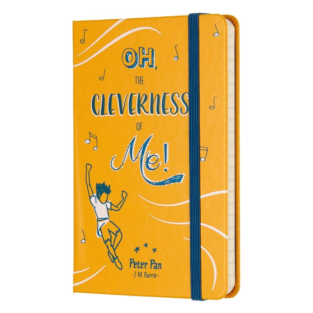 Žltý linajkový zápisník v pevnej väzbe Moleskine Peter Pan, 192 strán