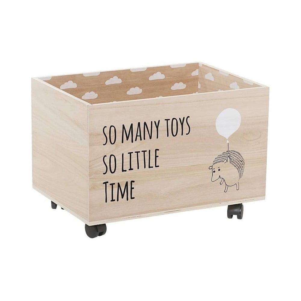 Drevený úložný box na hračky na kolieskach Bloomingville Storage Box