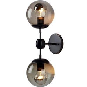 Čierne stropné / nástenné svietidlo Masivworks Garuto